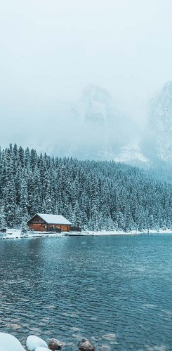 Winterstimmung am Lake Louise
